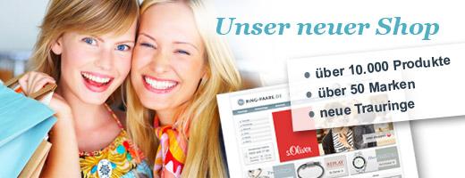 Relaunch der Website mit zahlreichen neuen Topmarken bei Ring-Paare.de!